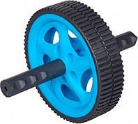 Ролик для пресса LiveUp Exercise Wheel 18 см Blue-Black LS3160B, КОД: 1552431