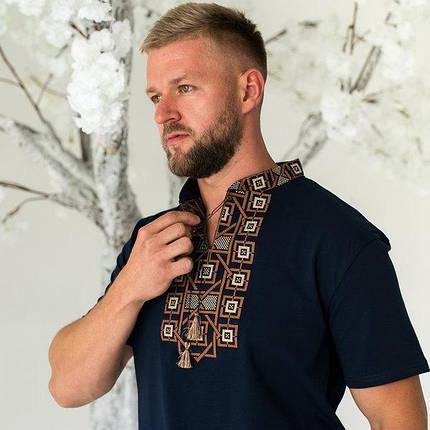 Модная мужская футболка с вышивкой «Оберег с коричневым», фото 2