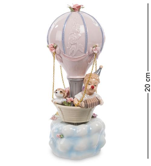 Статуетка музична Pavone Клоун на повітряній кулі 20 см 1106059