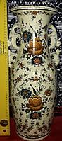 Ваза 54см H.Bequet Quaregnon Бельгия первая половина XX века керамика Ручная роспись старина б\у из Бельгии