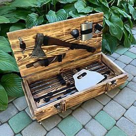 """Набор шампуров """"Слон"""" Gorillas BBQ в деревянной коробке"""