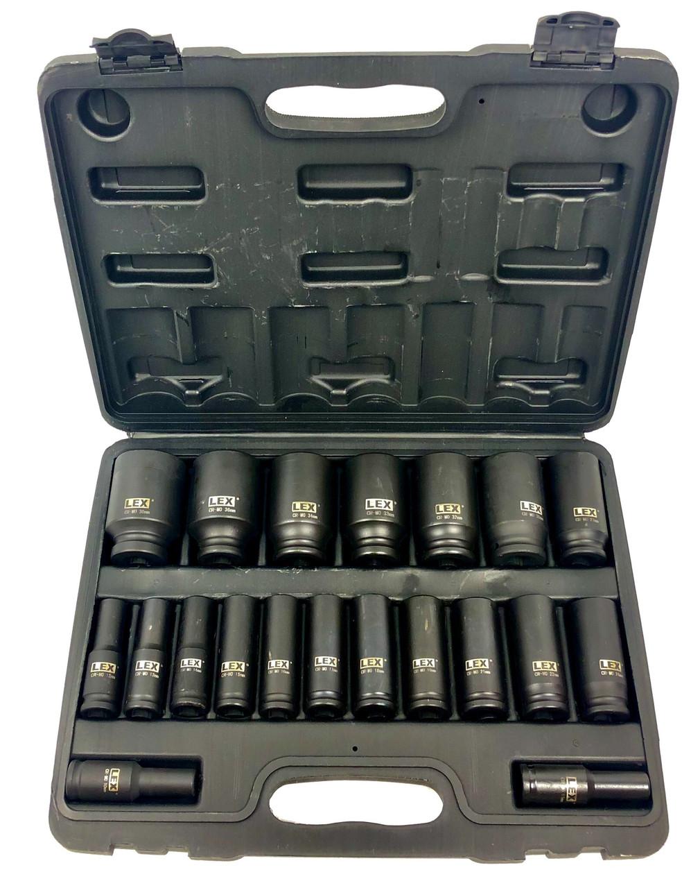 Набор ударных головок LEX 1/2 10-38 мм (LXIS20E)