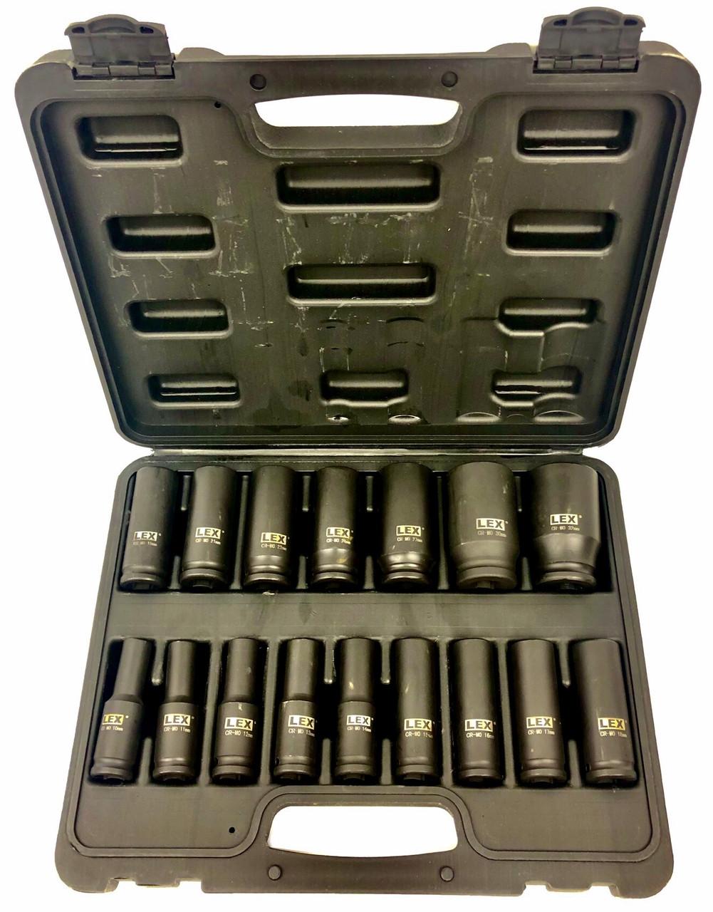 Набор ударных головок LEX 1/2 10-32 мм (LXIS16E)