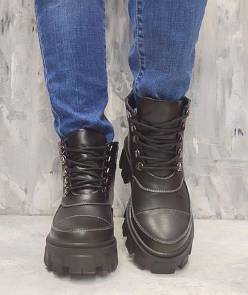 Модні жіночі черевики на білій рифленій підошві 36-41 р, фото 2