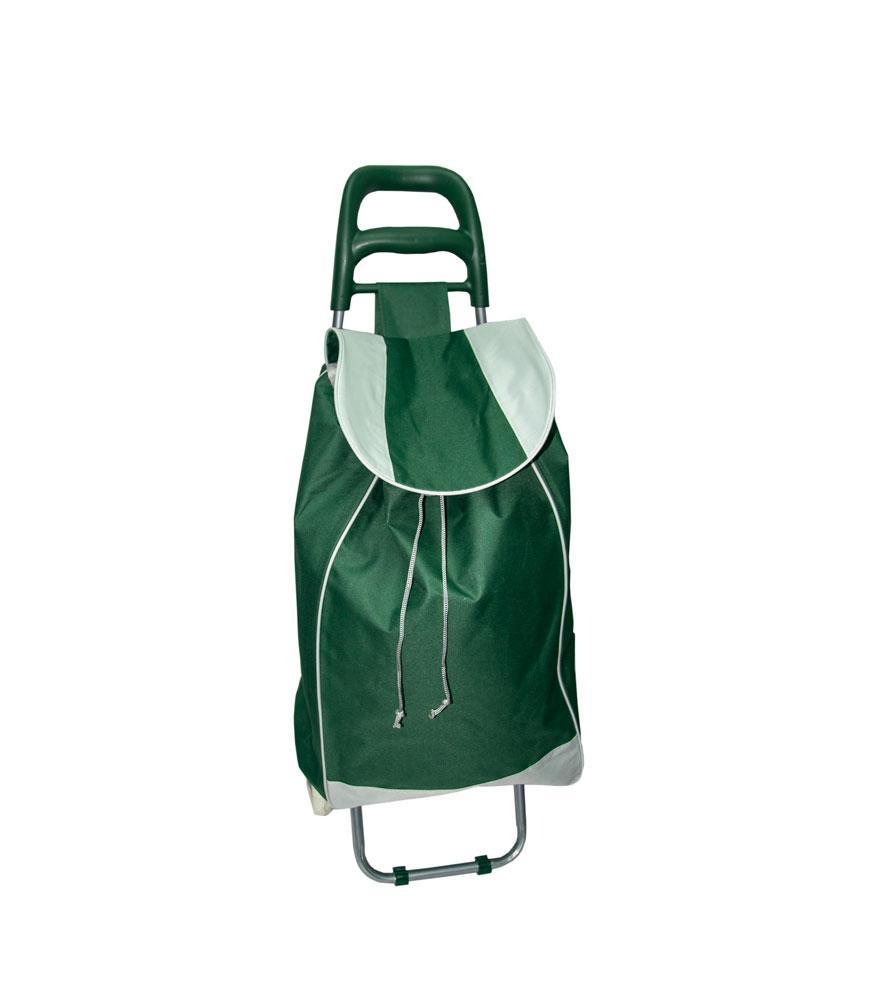Кравчучка, сумка тележка на колесах Зеленого цвета, тачка сумка с колесиками (ST)