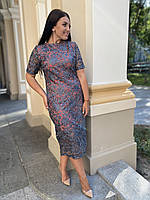 Женское вечернее платье из кружева, больших размеров 50-56