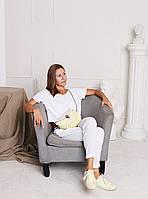 Набор для сумки-ракушки Орео МАКСИ Хаки+Оливковый Royal, фурнитура серебро, фото 5
