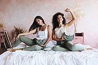 Набор для сумки-ракушки Орео МАКСИ Хаки+Оливковый, фурнитура серебро, фото 2