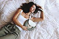 Набор для сумки-ракушки Орео МАКСИ Хаки+Оливковый, фурнитура серебро, фото 4