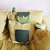 Набор для сумки-ракушки Орео МАКСИ Хаки+Dark Хаки, фурнитура серебро, фото 3