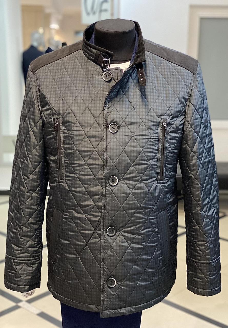 Куртка мужская West-Fashion модель М-111 серая клетка
