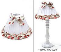 Декоративная настольная лампа с абажуром, состаренная