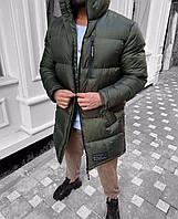 Мужская зимняя куртка пуховик  длинная внутри холлофайбер до -25 градусов!!!ШИКАРНАЯ!!!