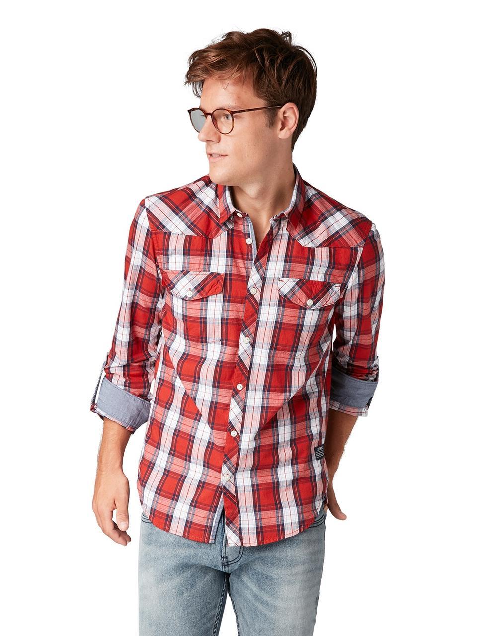 Рубашка Tom Tailor 1006386 XL Красный