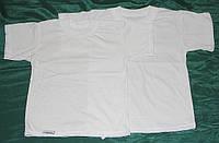 Детская футболка белая кулир