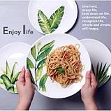 Керамическая тарелка рисунки растений 26 см, фото 4