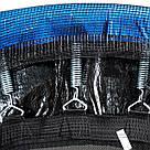 Батут 252 см спортивный игровой с нагрузкой до 120 кг Atleto с сеткой для детей и взрослых + лестница синий, фото 3