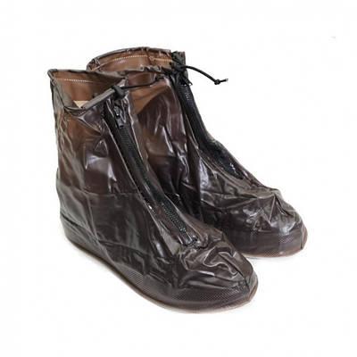 Дождевики для обуви, бахилы от дождя, чехлы для обуви Черные Размер XL 183546