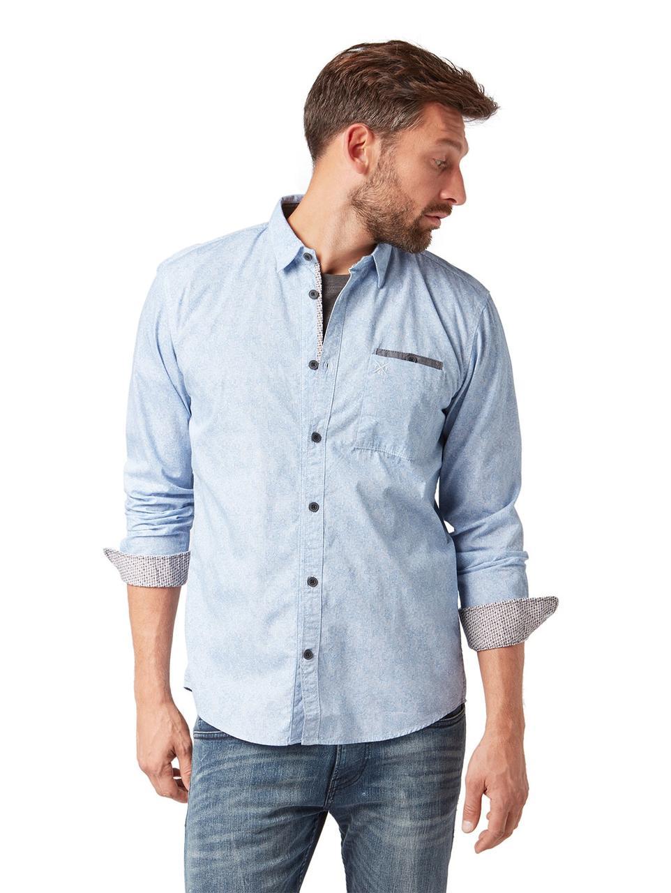 Рубашка Tom Tailor 1006757 XL Голубой