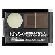 Набор теней для бровей NYX Eyebrow Cake Powder №2 (Dark brown) 2.65 г