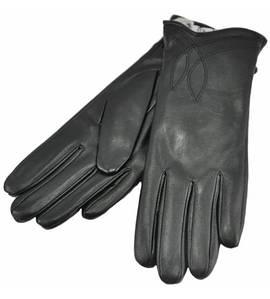 Женские перчатки листья черные
