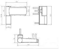 Дверная регулируемая петля (14-18) AKSIS  антрацит-грей Ral 7016