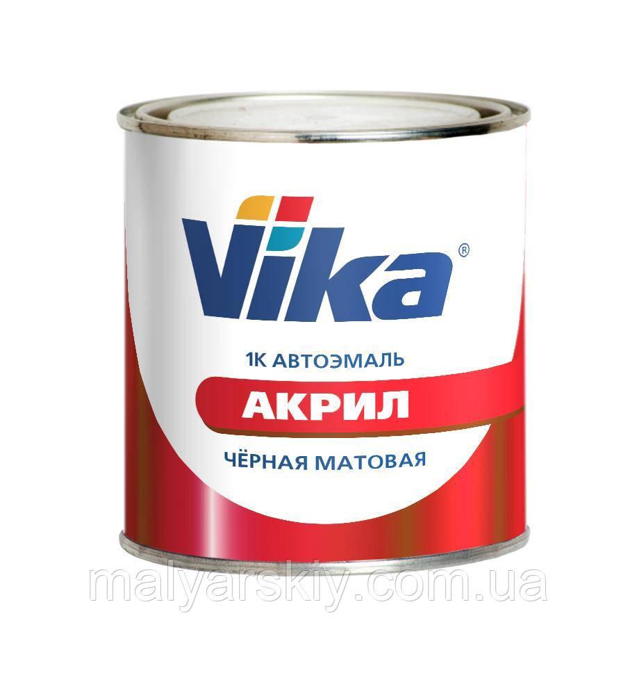 Чорна Матова  1К (однокомпонентна)  АКРИЛОВА ФАРБА  VIKA   0,4кг