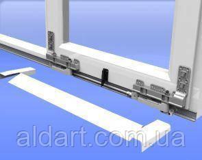 Фурнитура для раздвижных дверей из ПВХ: направляющие и рельсы. 3430 мм. (коричневые), фото 2