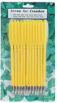 Стрелы для пист.арбалета Man Kung MK-PL-Y, пластик, ц:жёлтый (MK-PL-Y)