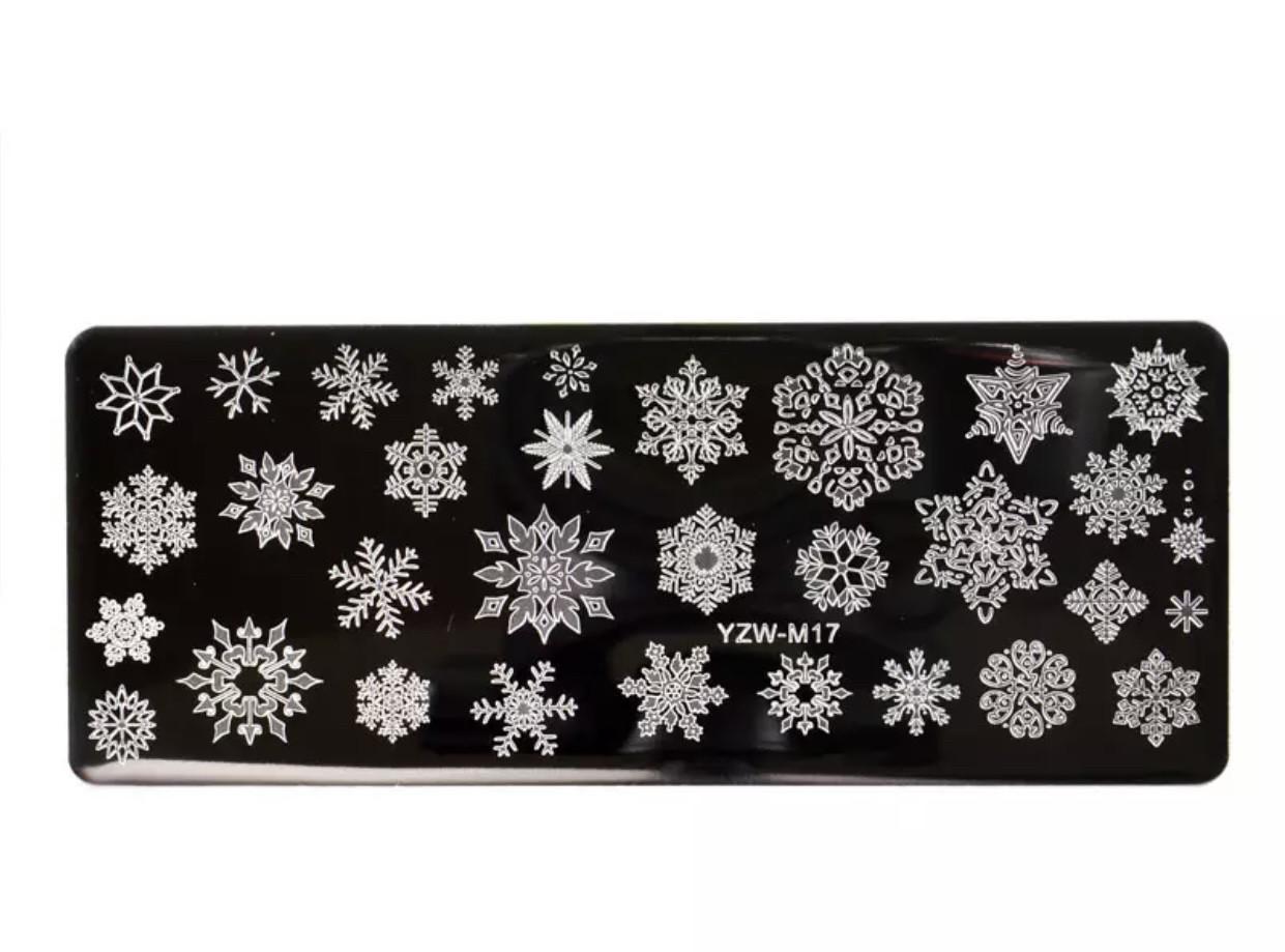 Пластина для стемпинга новорічний дизайн 6*12 см Manzilin - 05