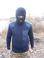 Военный свитер черный