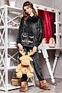 Велюрова піжама жіноча зі штанами і капюшоном графіт, фото 2