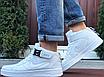 Мужские белые кроссовки Nike Air Force 1 Найк Аир Форс высокие кожаные демисезонные, фото 4