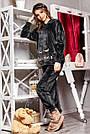 Велюрова піжама жіноча зі штанами і капюшоном графіт, фото 5