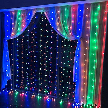 Гірлянда штора є icicle Light 3x2 Різнокольорова