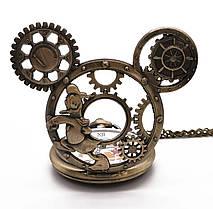 Мужские часы карманные Микки Маус на цепочке отличный подарок, фото 2