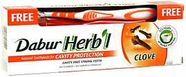 Зубная паста Dabur Herb'l Гвоздика 150 г + щетка