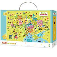 Пазл карта Украины для детей 100 элементов от 5 лет