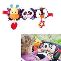 91024 [BT-T-0236] Брязкальце на дитячий візок BT-T-0236 з прорізувачем.батар.муз.світ.лист 31*14 /50/,