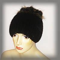 Меховая шапка из ондатры (с отделкой из енота), фото 1