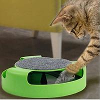 🔥✅  Игрушка для котов Кот и Мышь с когтеточкой Fine Pet SKL11-277525