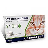 Стронгхолд* Плюс / Stronghold Zoetis капли для кошек весом от 5-10  кг от блох и гельминтов, 3 пипетки, фото 2