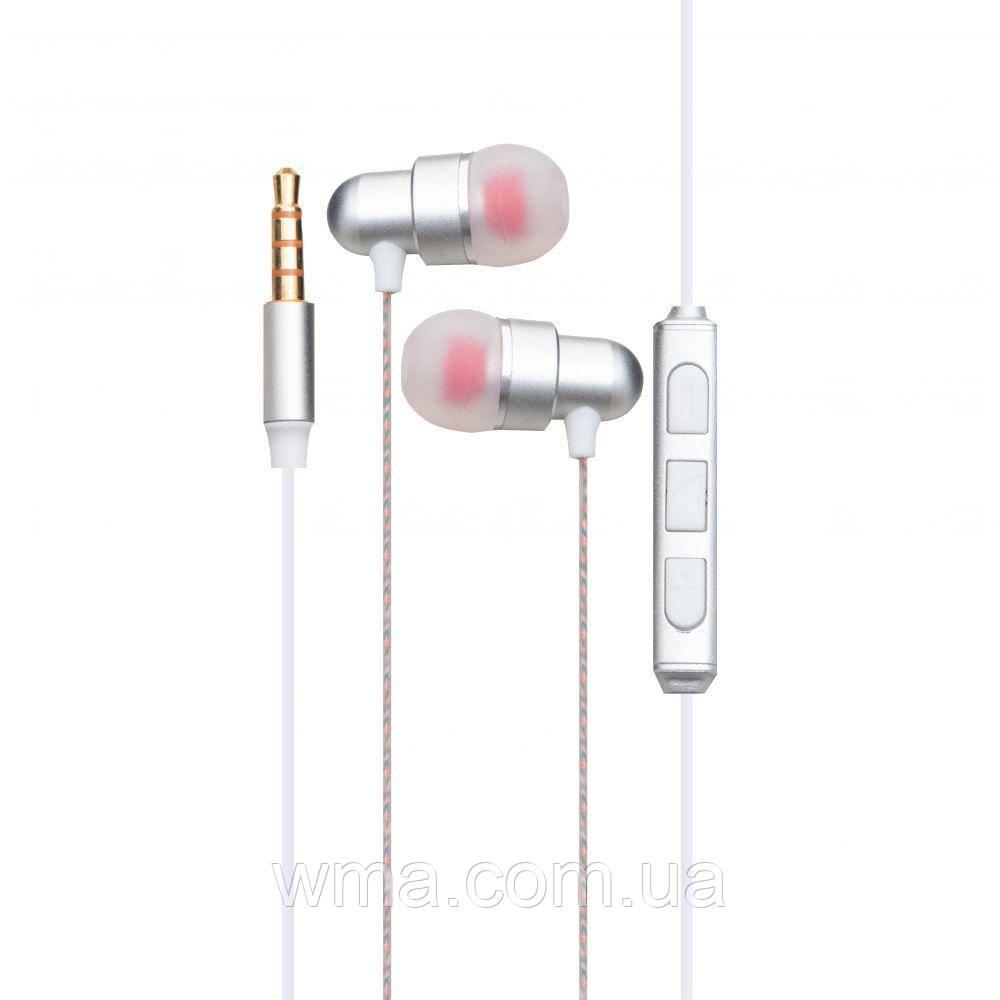 Проводные наушники для телефона Inkax EP-01 Цвет Бело-Стальной