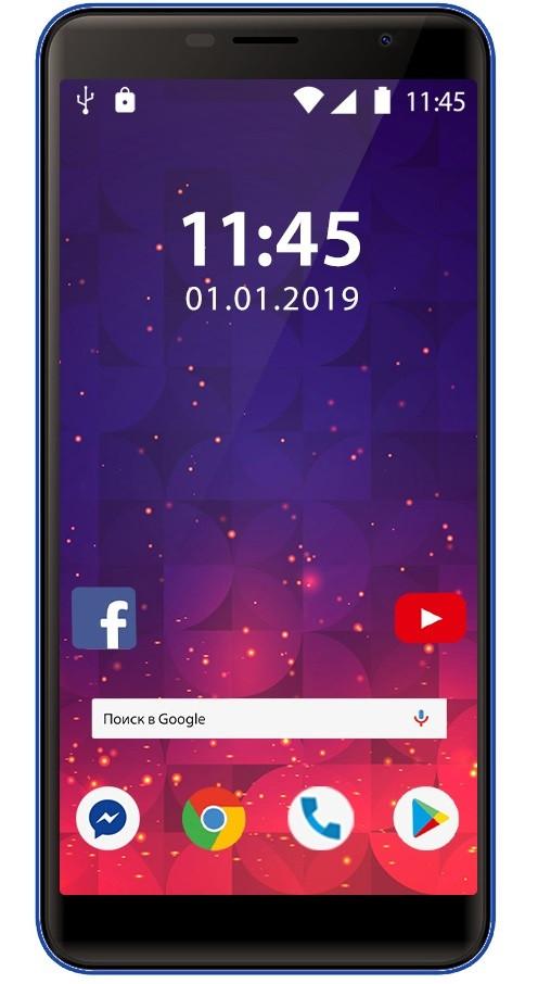Смартфон ASSISTANT AS-601L Pro 16GB Blue