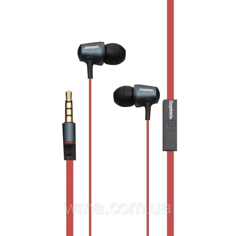 Проводные наушники для телефона Deepbass D-AL05 Цвет Красный