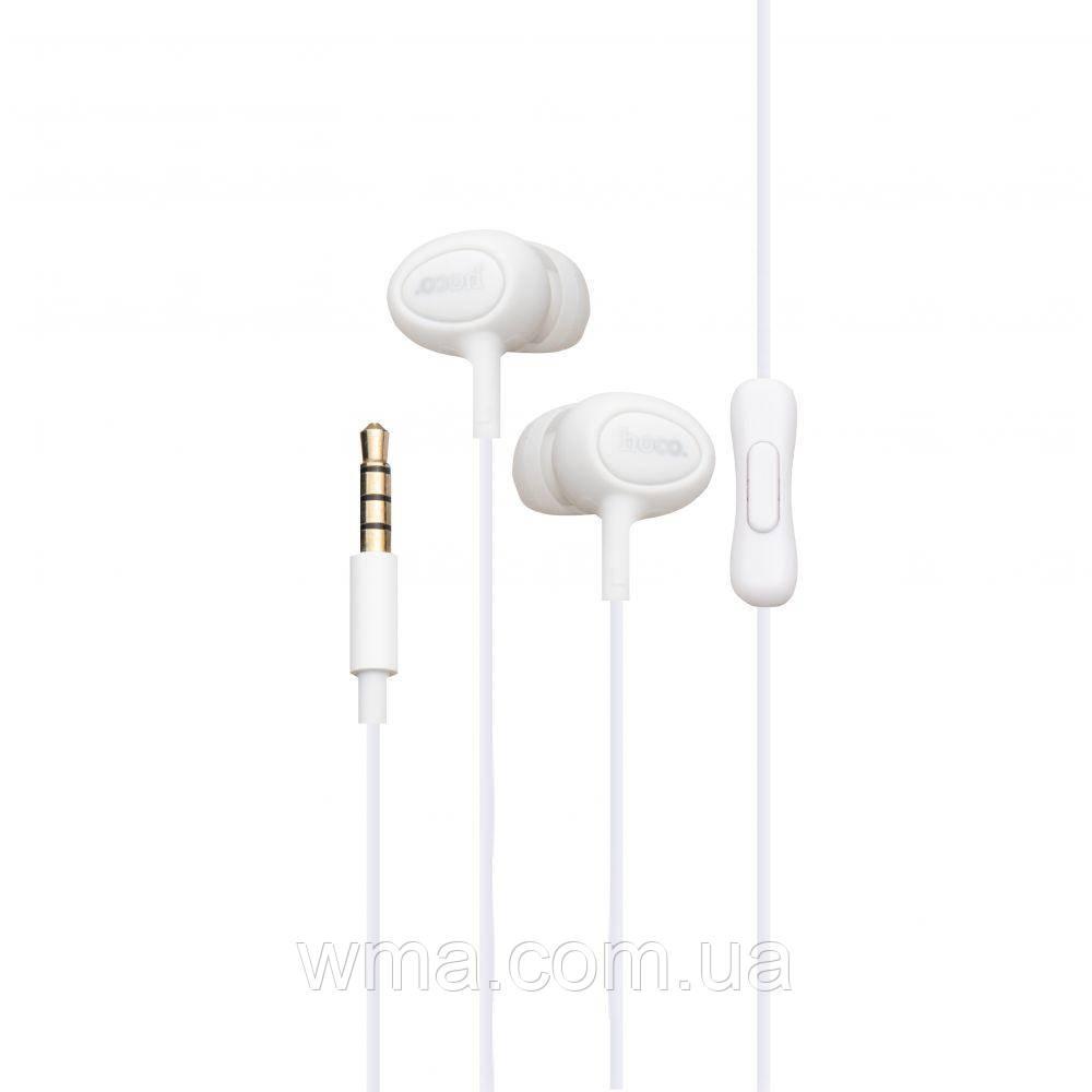 Проводные наушники для телефона Hoco M3 Цвет Белый