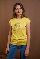 Жіноча футболка Дівчина-весна жовта, фото 1