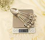 Шесть серебряных чайных ложек, Хильдесхаймская Роза, серебро, 800 проба, Германия, фото 8
