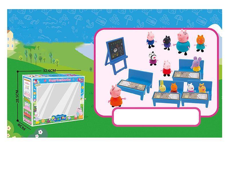 """Игровой набор """"Школа"""" Свинка и ее друзья в коробке YM 66 A7-3"""
