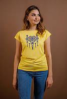 Жіноча футболка Орнамент жовта, фото 1